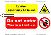 Laser sign example